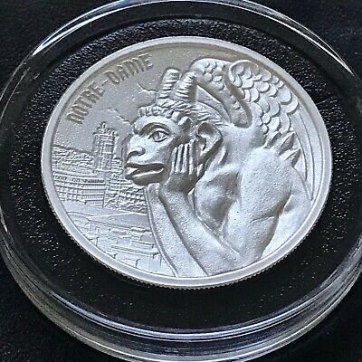 Gargoyles Of The World Series Type II Notre Dame 2 oz Silver High Relief Capsule