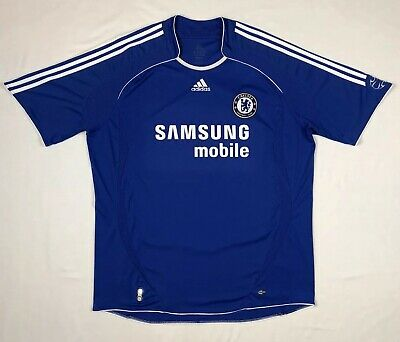 low priced 91bbc dedfa ADIDAS CHELSEA FC Mens Football/Soccer Jersey Shirt 2XL Blue Samsung A4