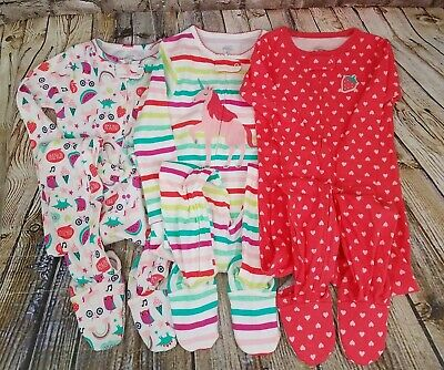 433f50b5ed05e Simple Joys Carter's Toddler Girl 3-Pack Snug-Fit Footed Cotton Pajamas 4T  NWT