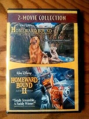 2 Movie Set-Homeward Bound The Incredible Journey/Homeward Bound II....(DVD) NEW