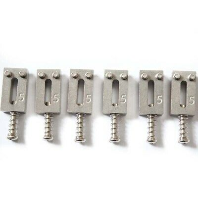 New Stainless Steel high mass Bridge Saddles 10.5MM For ST Electric guitar