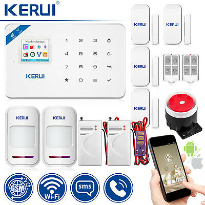 KERUI W18 Wireless GSM WiFi SMS Home Burglar Security Alarm System Water Sensor