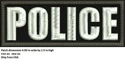 **Love It Or Its Free** Police Embroidered Patch, Iron On, Fastener, Free Ship