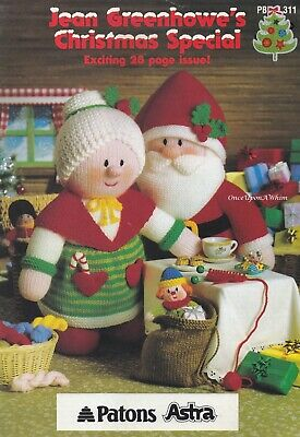 Christmas Special, Jean Greenhowe Knitting Patterns PBN 311 Toys Nativity & More