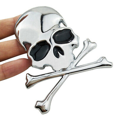 Skull and Crossbones Pirate Car Motorcycle Decal Sticker Badge