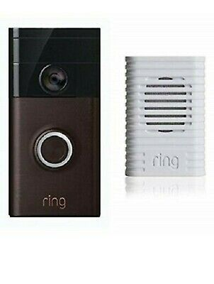 Ring Video Doorbell Motion Activated 720HD Video Two-Way Talk Camera With Chime