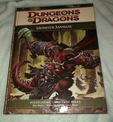 D&D 4th Edition Monster Manual Roleplaying Book