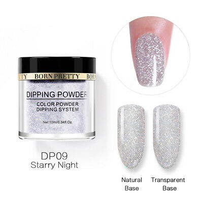 BORN PRETTY 10ml Dipping Acrylic Powder Natural Glitter Long Lasting Nail Art