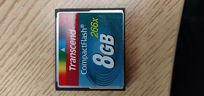 Transcend 8GB Compact Flash CF Card 266x TS8GCF266 in good working condition