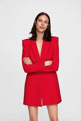 a84cf40a LAST_NWT ZARA AW18 Red Double Breasted Tailored Frock Coat 8020 ...