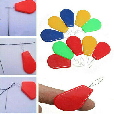 10pcs Bow Wire Stitch Insert Craft Tools Sewing Machines Needle Threader Plastic