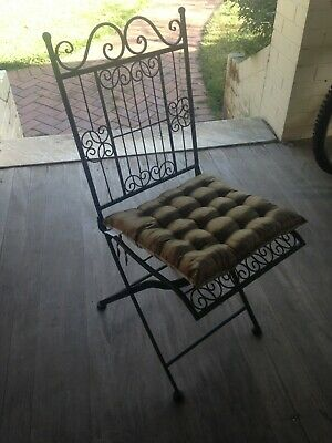 French Baroque Style Metal Bistro / Garden / Patio / Outdoor Chairs + cushions