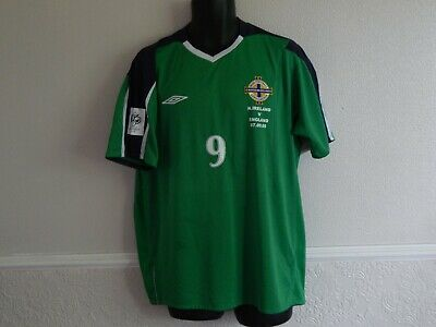 NORTHERN IRELAND WORLD CUP QUALIFIER 2005 v ENGLAND FOOTBALL SHIRT HEALY 9 ,XL