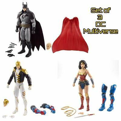 Set of 3 DC Multiverse Wonder Woman The Ray Batman Lex Luthor Collect & Connect