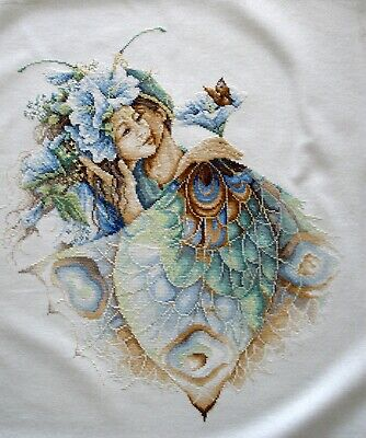 Lanarte Linen Complete Counted Cross Stitch Embroidered Unframe Picture The Kiss