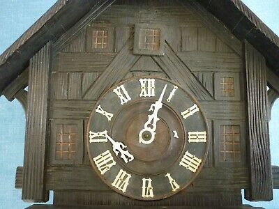 Antique Black Forest Large Cuckoo Clock. Not Working. Spares Or Repair.