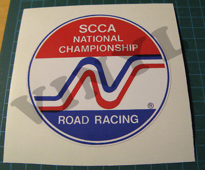 Vintage Style Scca National Championship Road Racing Vinyl Decal Sticker
