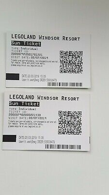 4x Lego Land Entry Tickets.2nd July 2019 Inc a 2 FOR 1 Voucher