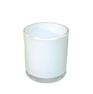 Candle Holder / Jar White Glass x 24