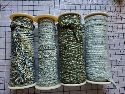 Rug Braiding 100% wool Spool lot 4 hooking braid supply crafting
