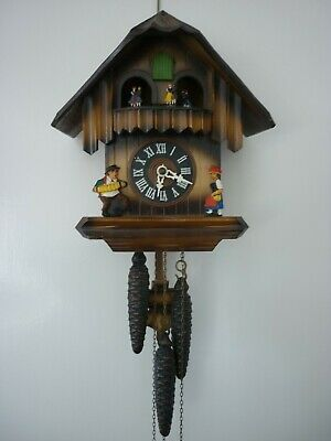 Vintage German Cuckoo Clock. Musical With Revolving Dancers. Not Working.