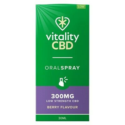 Vitality Hemp Oil Spray - 300, 600 + 1200mg Variants - Natural Stress Support