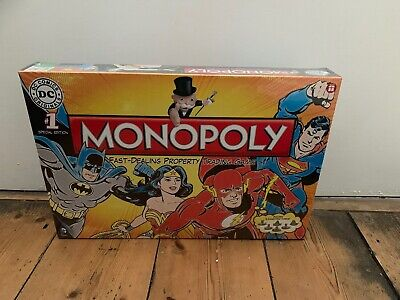 Dc Comics Superheroes Monopoly Board Game New Collectable Tv Film Characters
