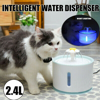 1.6L/2.4L Automatic Pet Water Fountain Cat Dog Flower Style Drinking Bowl Filter