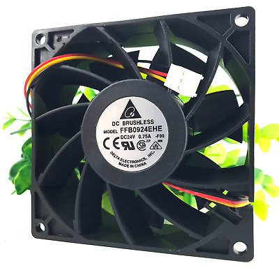 DELTA FFB0924EHE 24V 0.75A 18W 9238 9CM 3 line double ball inverter cooling fan