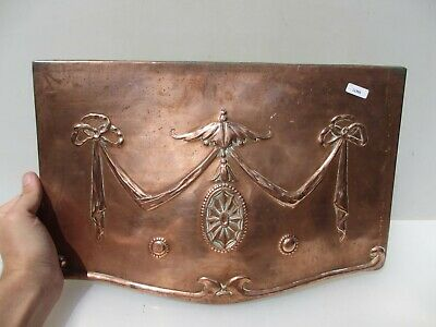 Victorian Copper Fire Hood Canopy Architectural Antique Vintage Adam Style