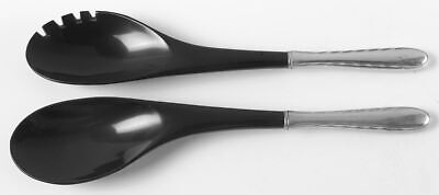 Towle SILVER FLUTES STERLING 2 Piece Salad Set (Plastic Implements) 739938