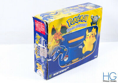 Official N64 Nintendo 64 Retro Pikachu Game Console /  Box Only / 2