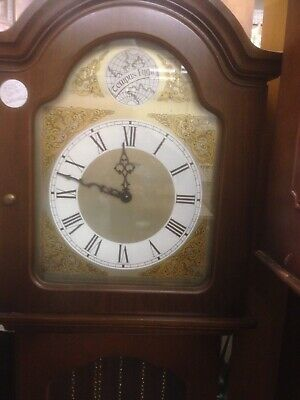 Vintage Long Case Grandfather Clock Westminster Chime Gwo