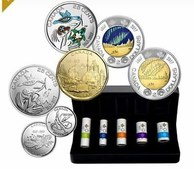 2017 Canada 150 My Inspiration Special Wrap Coin Roll Set $2-$1-50c-25c-10c-5c