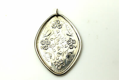 Towle 925 Sterling Silver Reversible Christmas Ornament Dated 1974 (ANT2642)