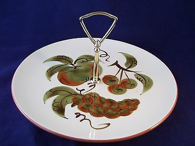Stangl Orchard Song Tidbit Serving Plate Signed Vintage Retro USA Handpainted II