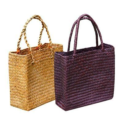 1195122827ffd Woman Woven Tote Straw Bags Large Handbags Summer Beach Travel Shoulder-bag