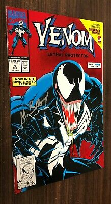 VENOM LETHAL PROTECTOR #1 -- Signed by Mark Bagley -- Red Foil -- NM- Or Better