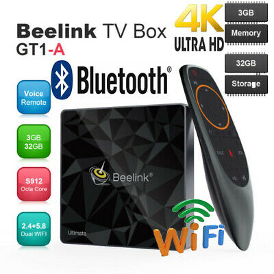 Beelink GT1 Android 7.1 Octa Core 3GB + 32GB BT 4K Smart TV Box Media Player UK
