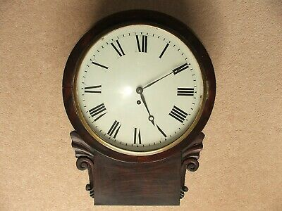 Antique Wooden Case Fusee Wall Clock