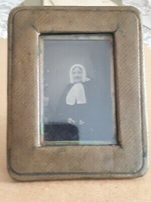 Antique Victorian Mid 19th Century Framed Photograph Old Woman - Ambrotype?