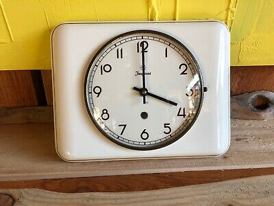 Vintage Junghans Art Deco Ceramic Wall Clock Highly Collectable