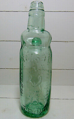 Very Rare Knight of Tring Hertfordshire Pictorial Bulb Codd Bottle c1890