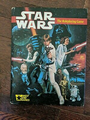 STAR WARS THE ROLE PLAYING GAME BOOK West End Games1987 FIRST EDITION