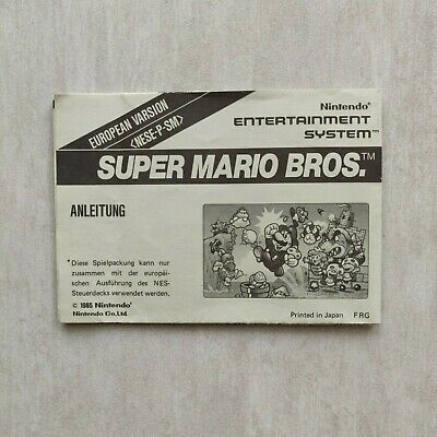 Instructions / Anleitung Nintendo Nes Super Mario Bros European Deutsch / German