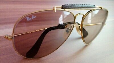 vintage ray ban bausch lomb aviator the general leder 62 14 USA