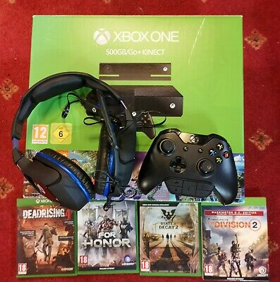 Xbox One 500GB, Headset + Control Jack, Division 2 DC Edition plus 4 more games