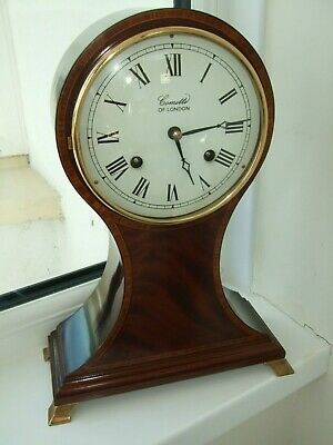 Nice vintage comitti balloon Edwardian styled mantel clock with hermle movement.