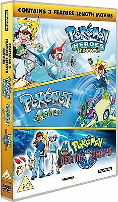 New & Sealed Pokemon Triple Movie Collection DVD