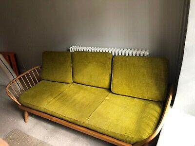 Original Ercol Studio Daybed Sofa Couch + 2 Windsor armchairs suite